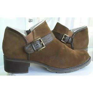 Sporto Womens Ankle Boots Booties Brown Leather